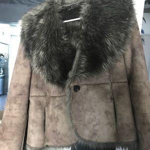 Luii Chocolate Brown Faux Fur Coat